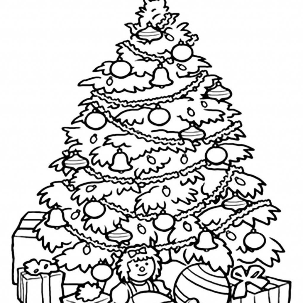 Christmas Tree Colouring Pages For Adults With Coloring Part 5 Free Resource