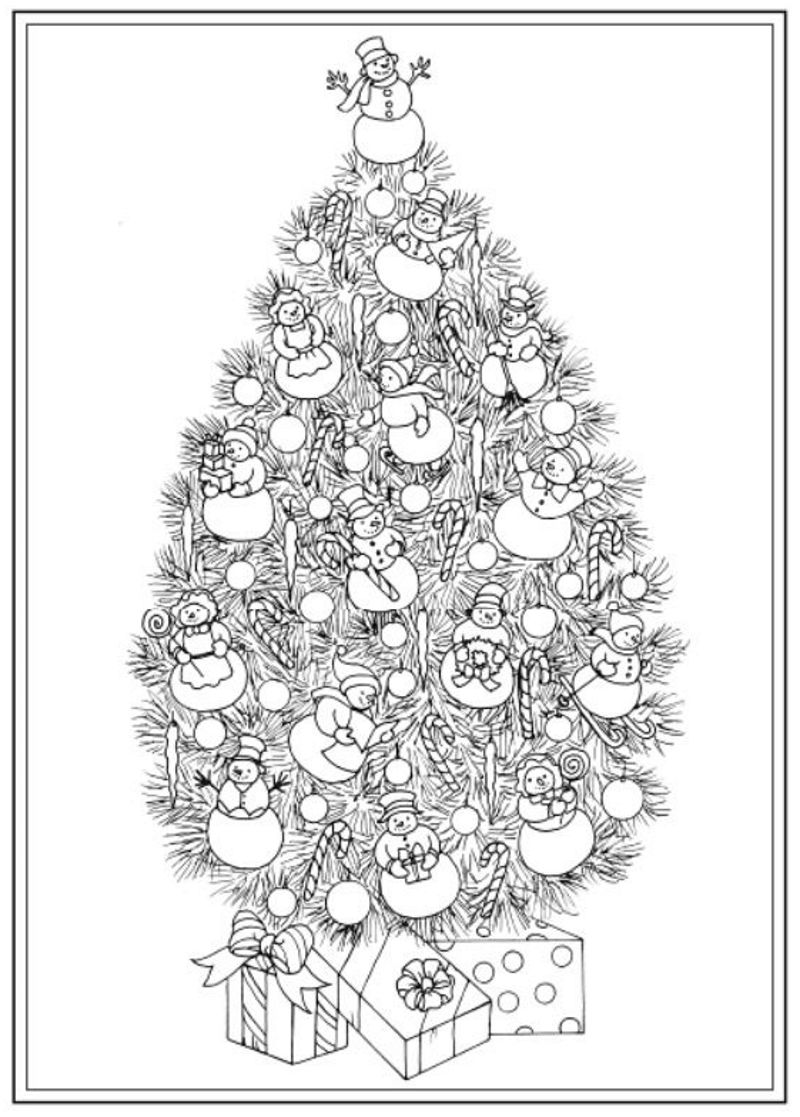 Christmas Tree Colouring Pages For Adults With Creative Haven Trees Coloring Book Dover Publications