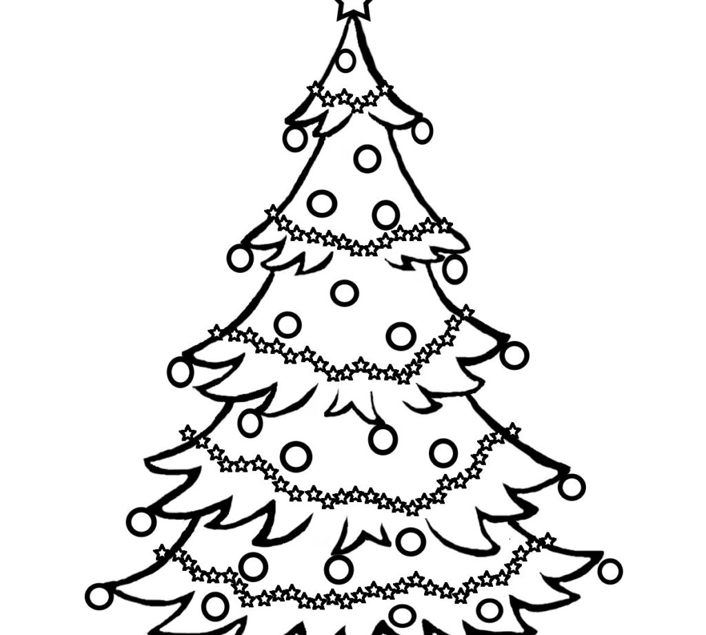 Christmas Tree Colouring Pages For Adults With Secrets Pictures To Colour And Print Coloring