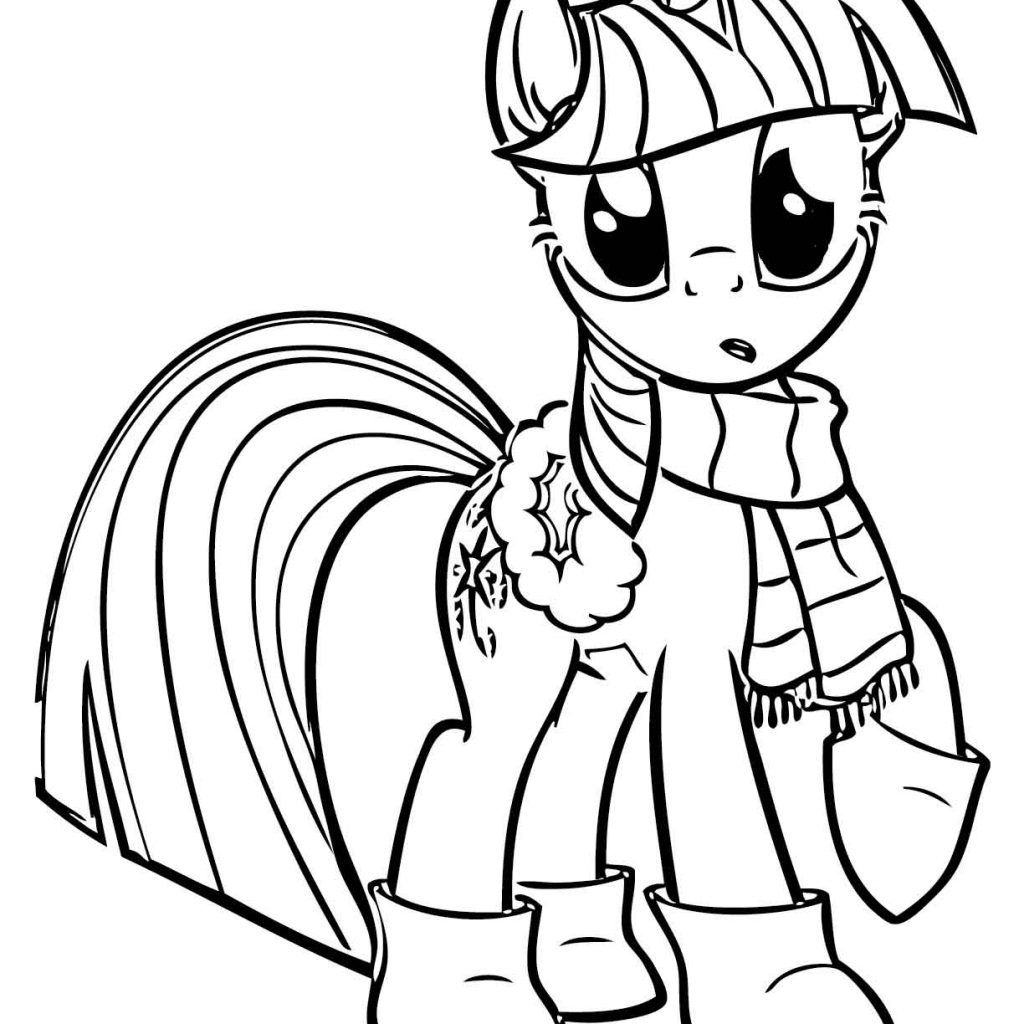 Christmas Unicorn Coloring Pages With My Little Pony To Download And Print For Free