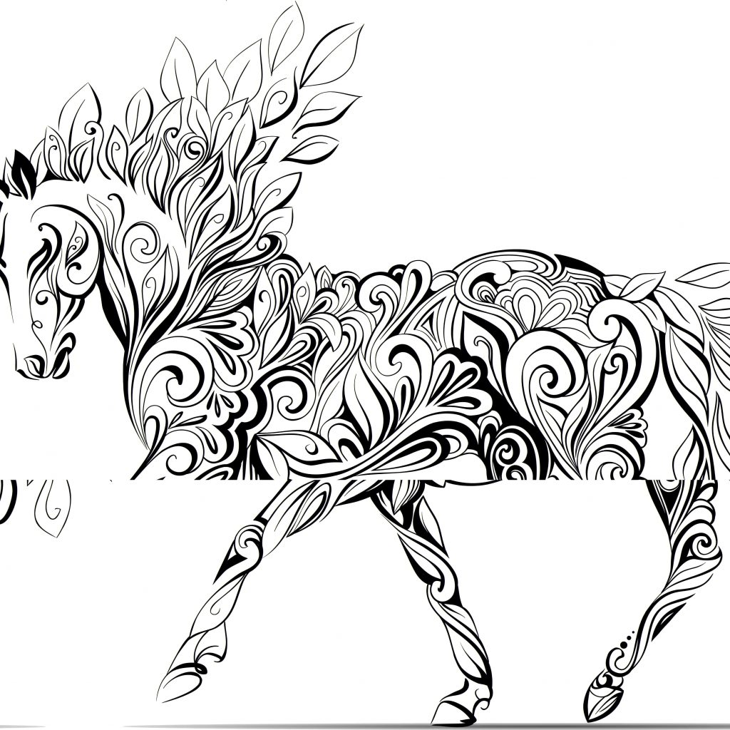 Christmas Unicorn Coloring Pages With Rainbow Classic