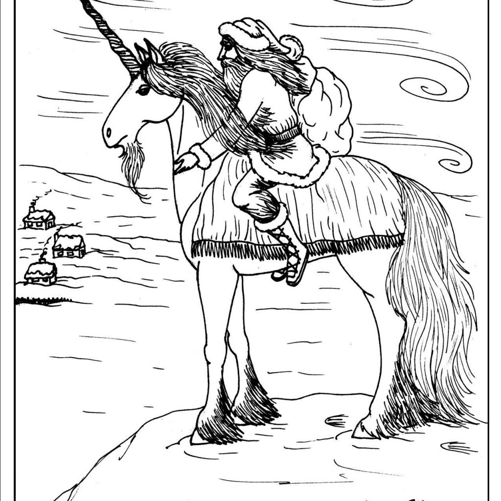 Christmas Unicorn Coloring Pages With S Mac Place To Be
