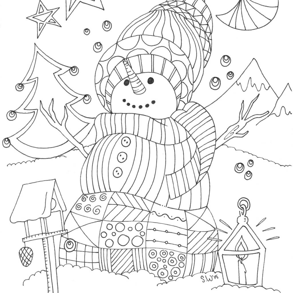 Christmas Vacation Coloring Book With Kleurplaat Voor Volwassenen Winter Colorful Creations Pinterest