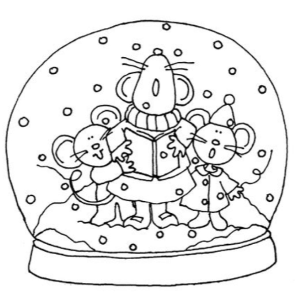 Christmas Vacation Coloring Pages With New Snow Globe Page Design Printable Sheet
