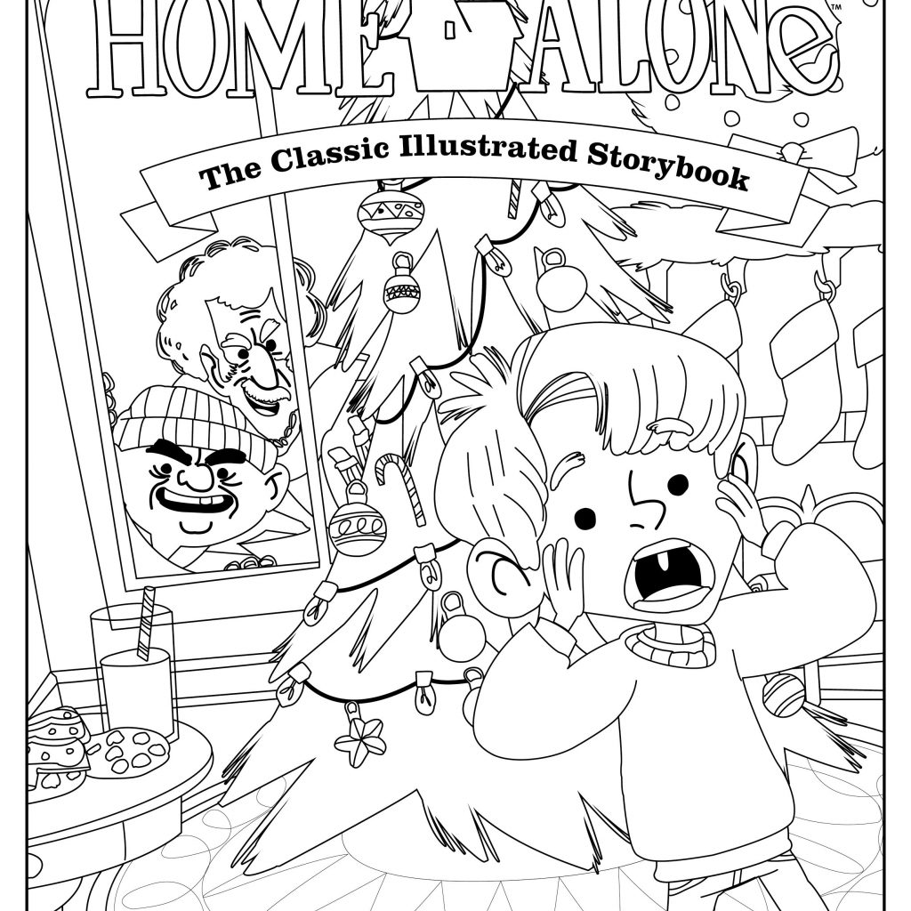 Christmas Vacation Coloring Pages With Page From Home Alone The Classic Illustrated Storybook