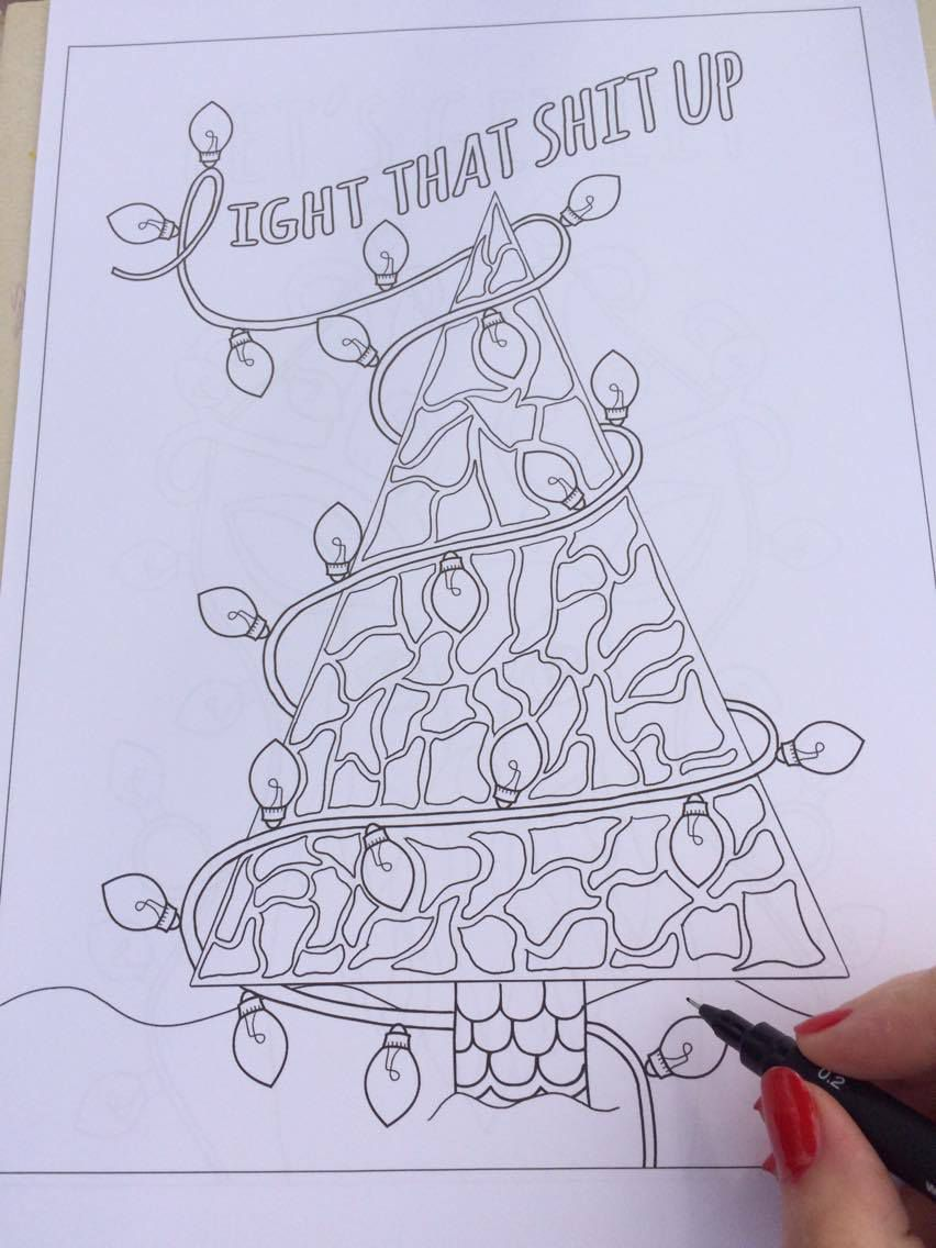 Christmas Vacation Coloring Pages With This Foul Mouthed Holiday Book Is Everything You Need