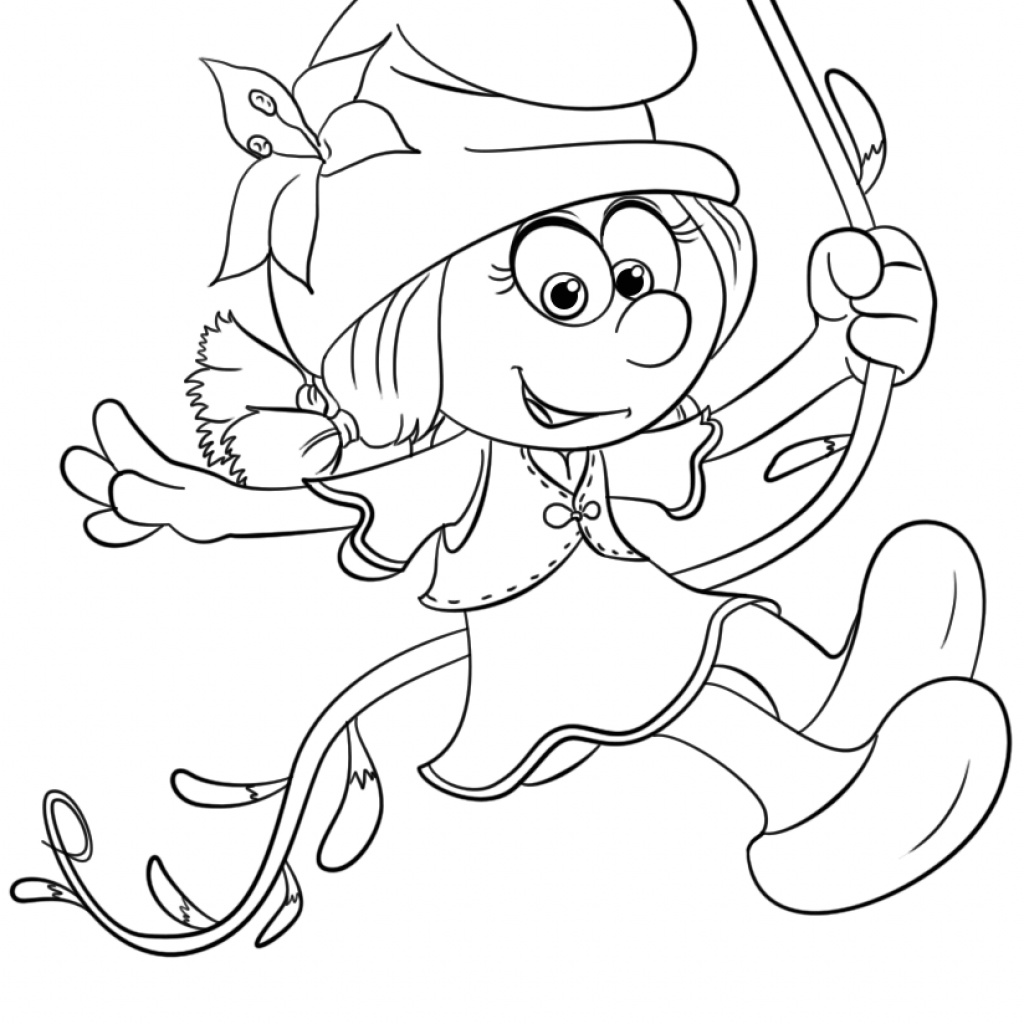 Christmas Village Coloring Book With Smurflily From Smurfs The Lost Page Free