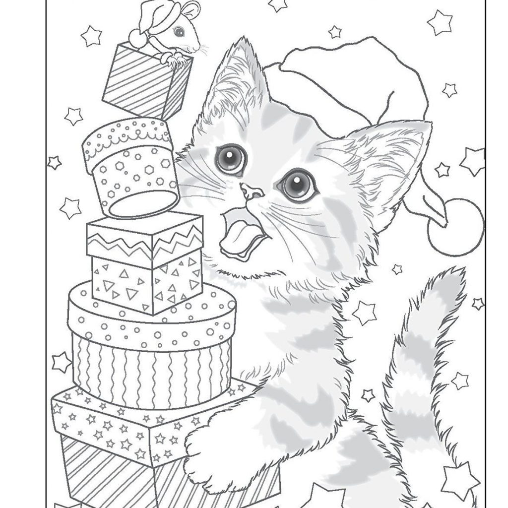 Christmas Village Coloring Pages With Santa S Furry Helpers Book Colouring Books Amazon De