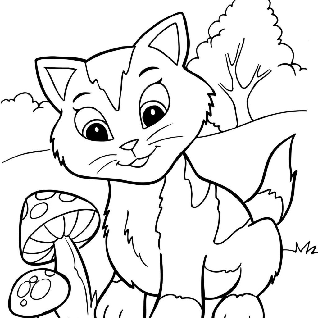 Christmas Village Coloring With Pages Of Free Kitten Luxury Sheet 5