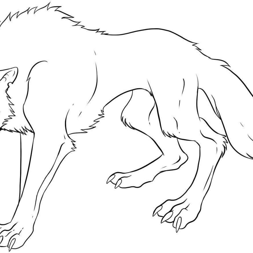 Christmas Wolf Coloring Pages With Anime S Print Printable