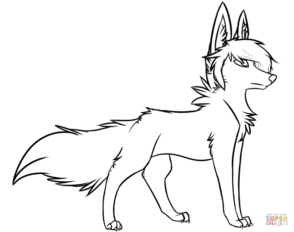 Christmas Wolf Coloring Pages With Free