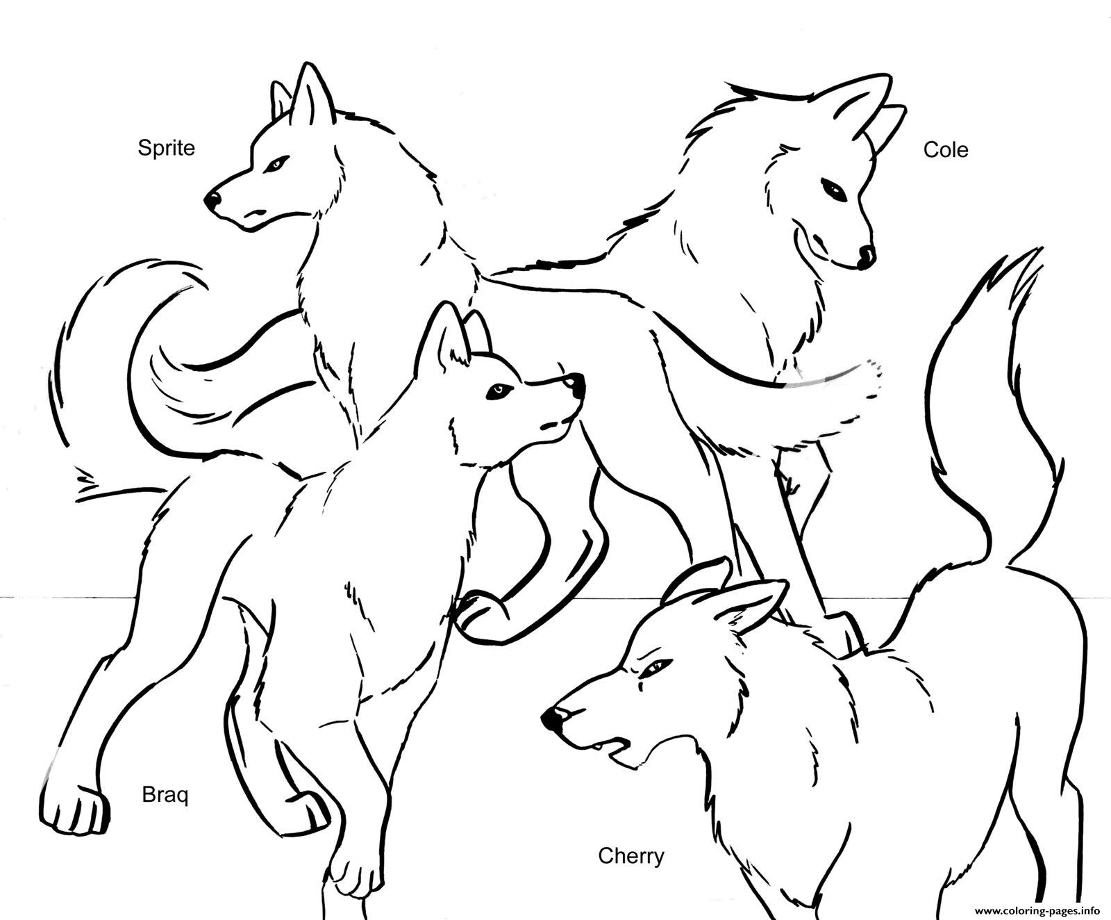 Christmas Wolf Coloring Pages With Pack Team Printable