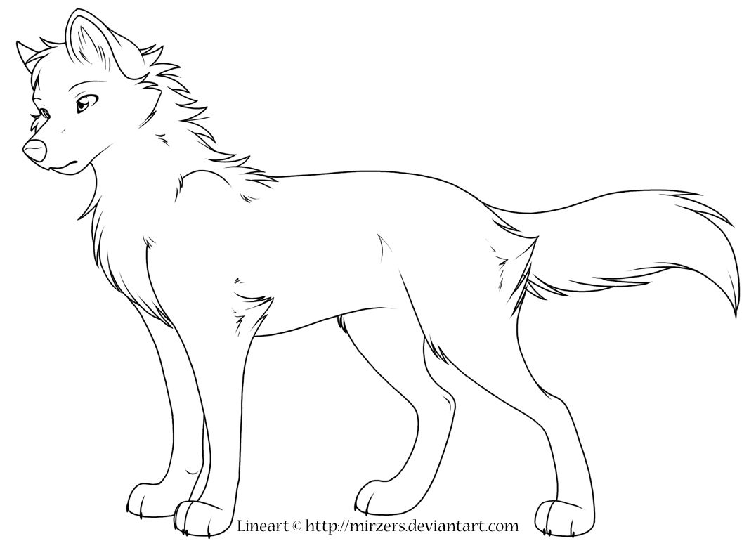 Christmas Wolf Coloring Pages With Super Anime Wolves Jos Gandos For Kids