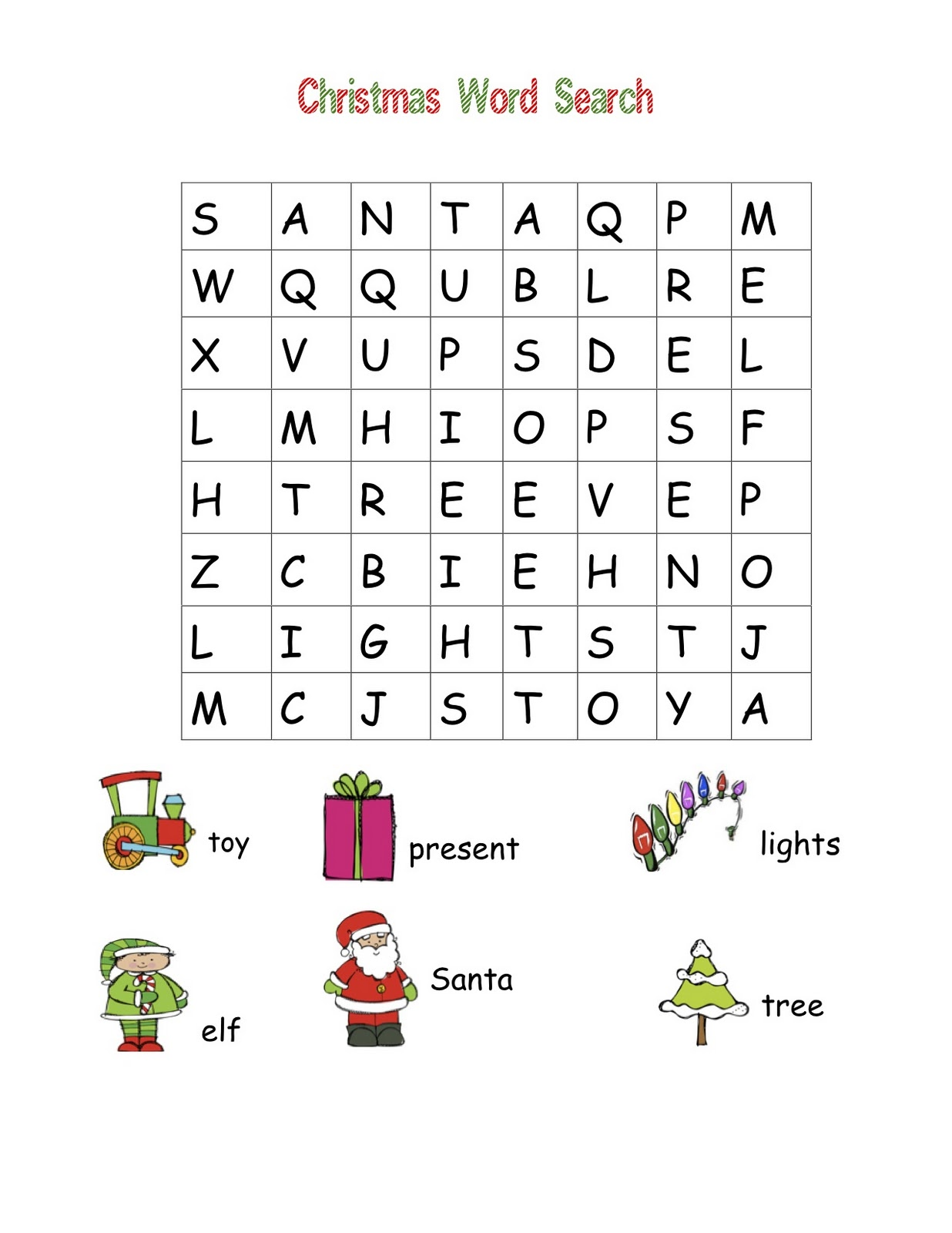 Christmas Words Coloring Pages With Word Search Best For Kids