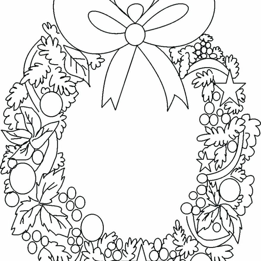 Christmas Wreath Coloring Pages For Adults With Gamz Me