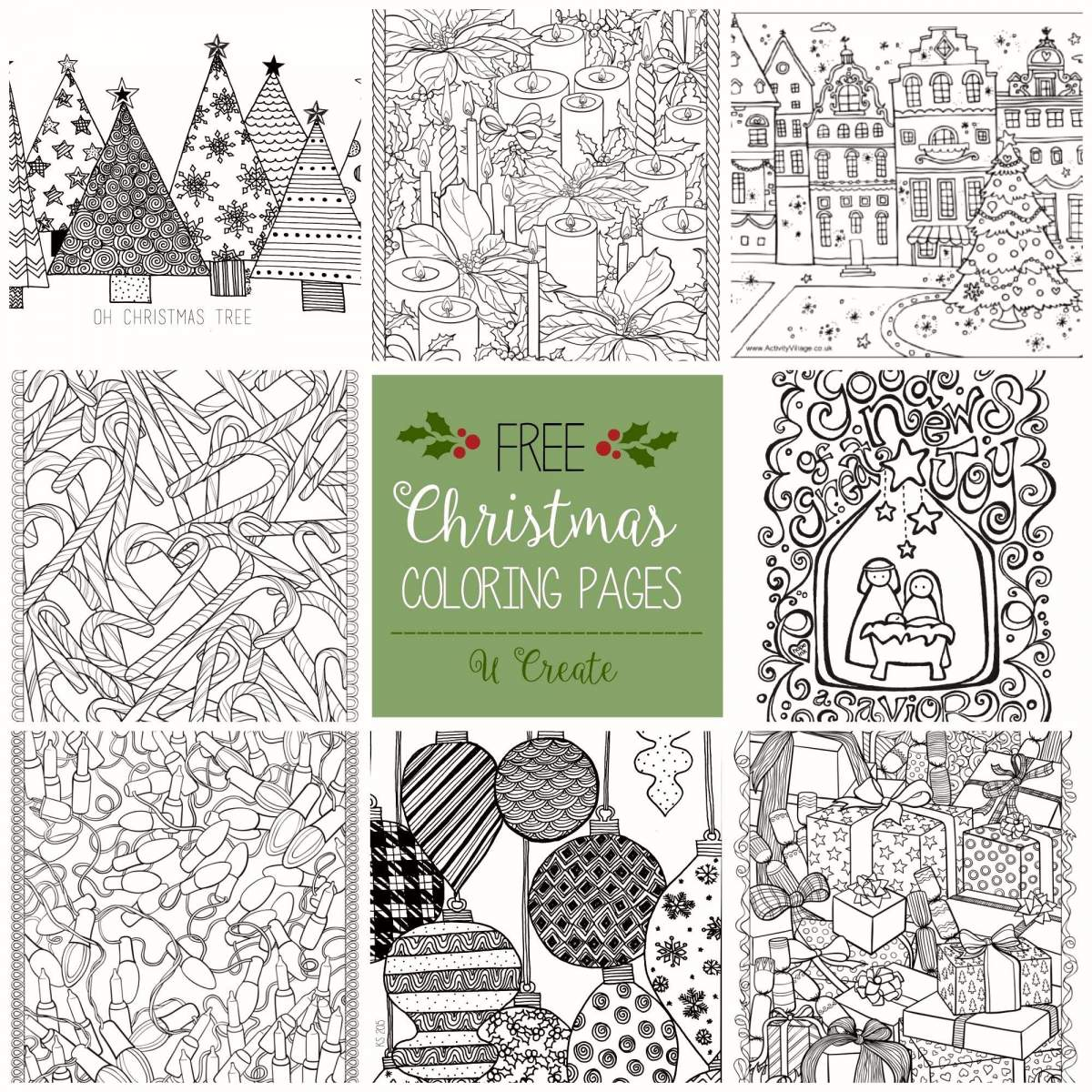 Christmas Wreath Coloring Pages To Print With Page Shapes Worksheet Printable