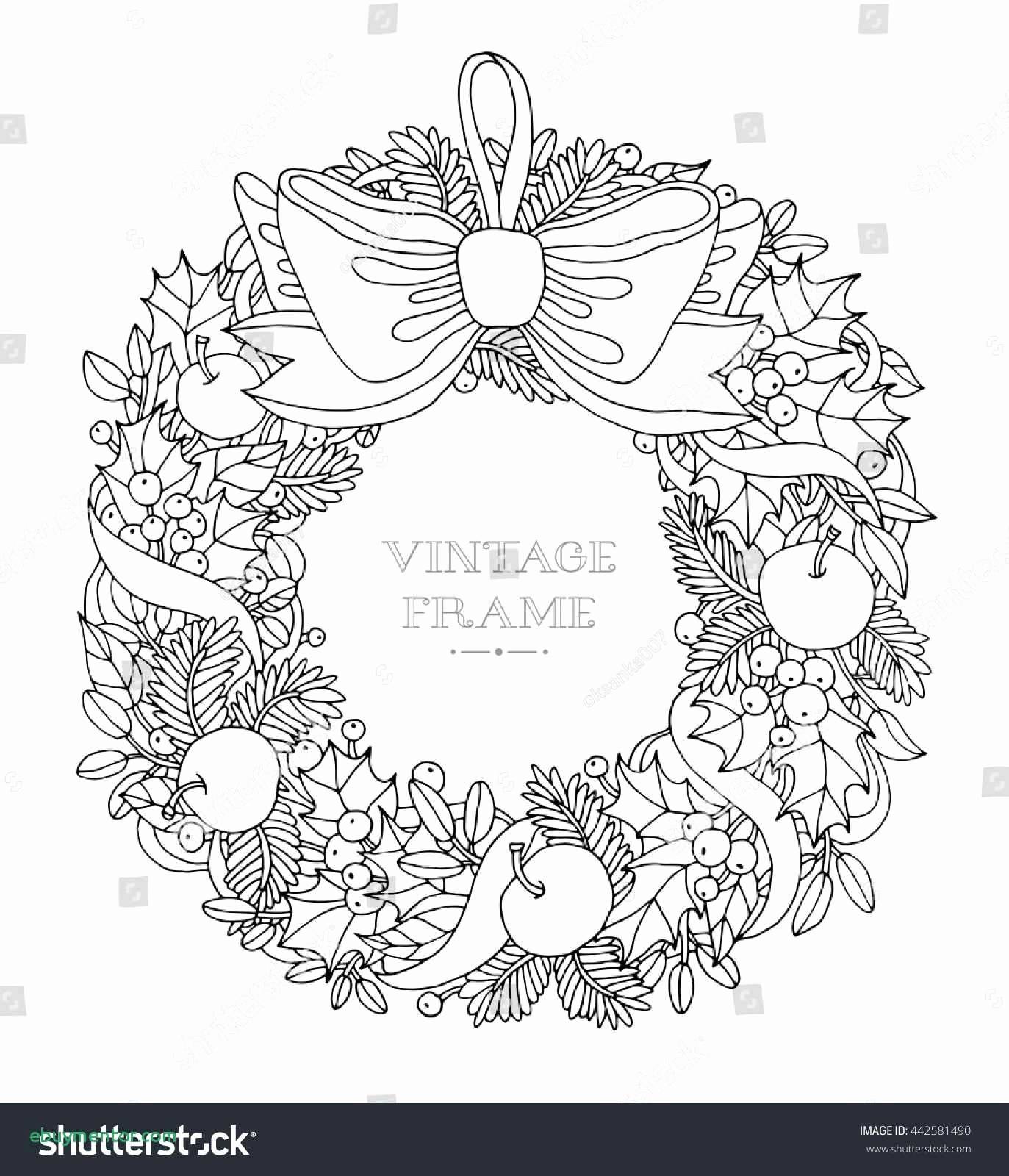 Christmas Wreath Coloring Pages To Print With Winter Sports Lovely