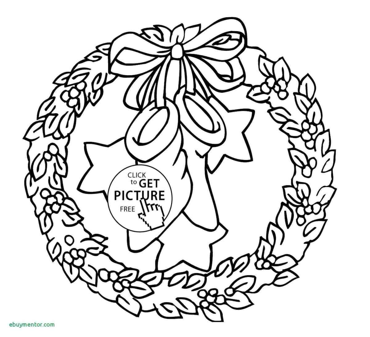 Christmas Wreath Coloring Pages With Simple Drawing Inspirational Wreaths