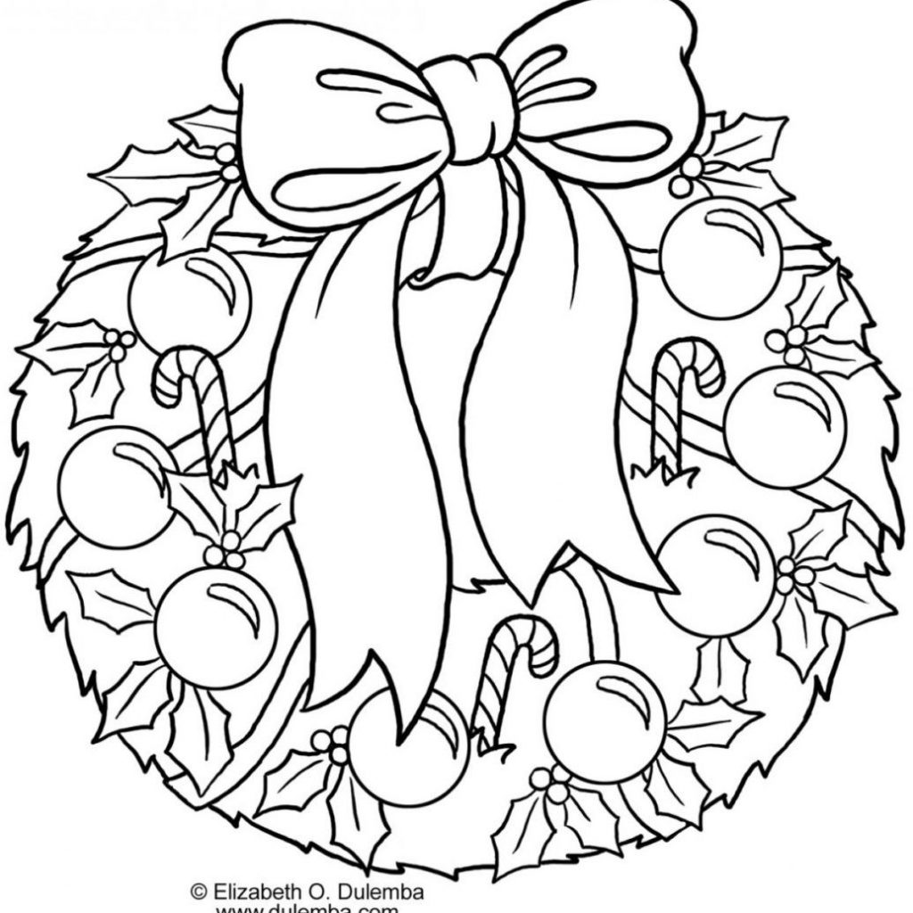 Christmas Wreath Coloring Sheet With Http Colorings Co Sheets
