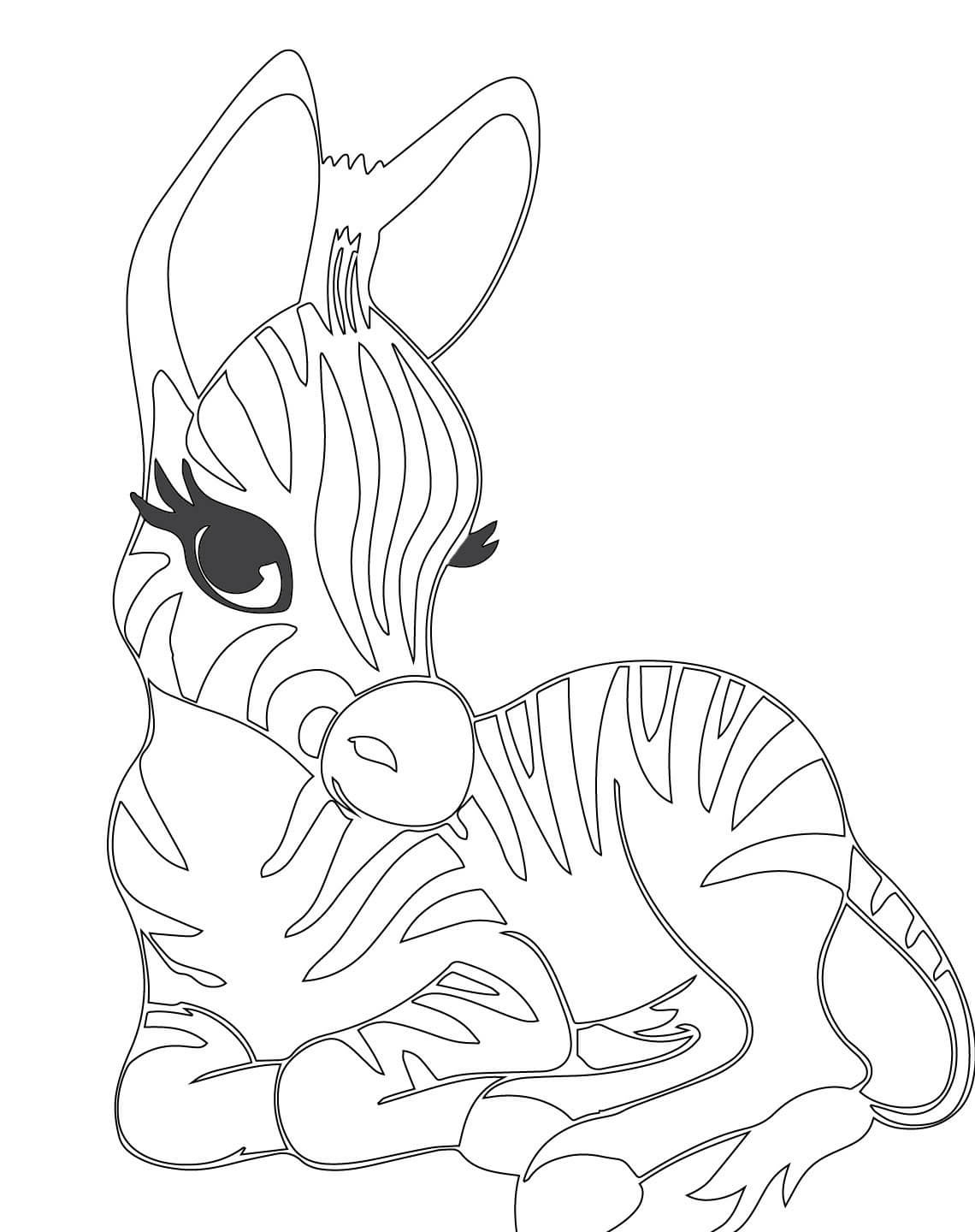 Christmas Zebra Coloring Pages With Cute Sheets Page Ba 969 X 1224