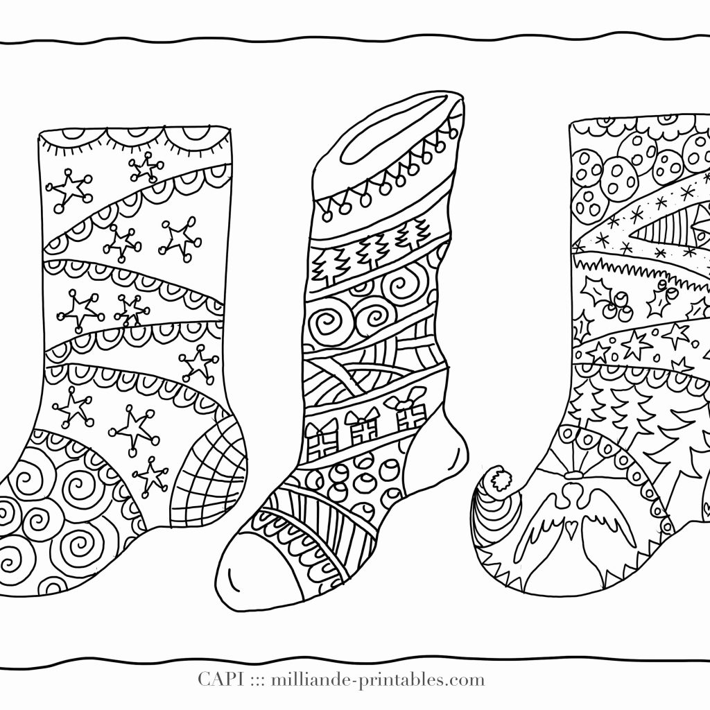 Christmas Zebra Coloring Pages With For Grown Ups Up Fresh Free
