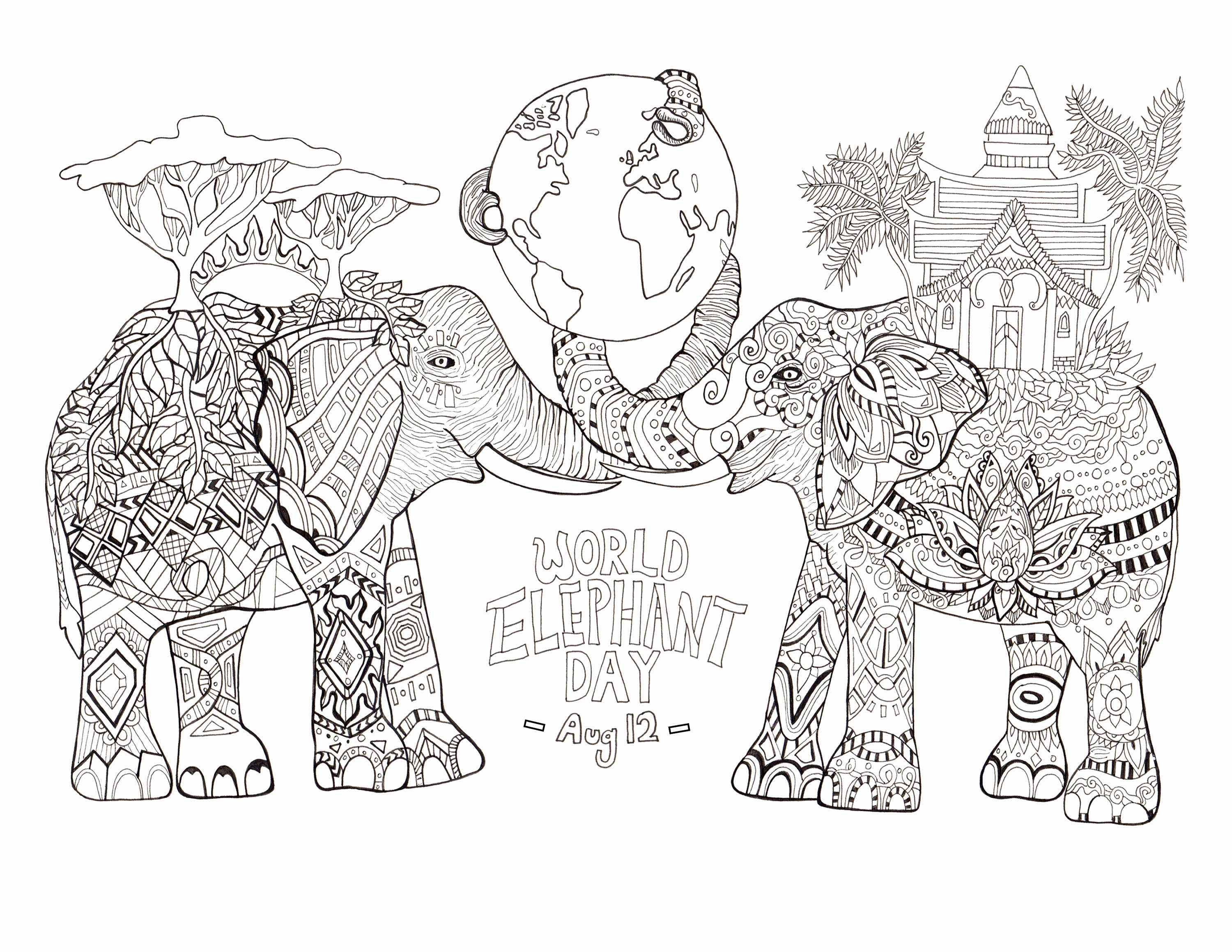 Christmas Zebra Coloring Pages With Free To Print