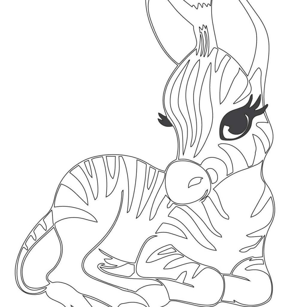 Christmas Zebra Coloring Pages With Printable Cute For Your