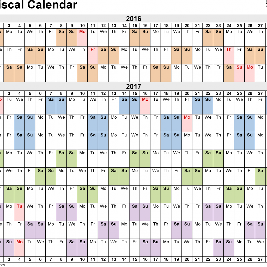 Cisco Fiscal Year Calendar 2019 With Calendars 2017 As Free Printable PDF Templates