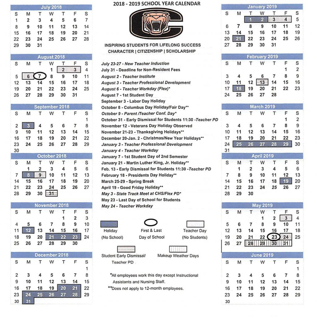Cisco Fiscal Year Calendar 2019 With Cullman City Schools Set 2018