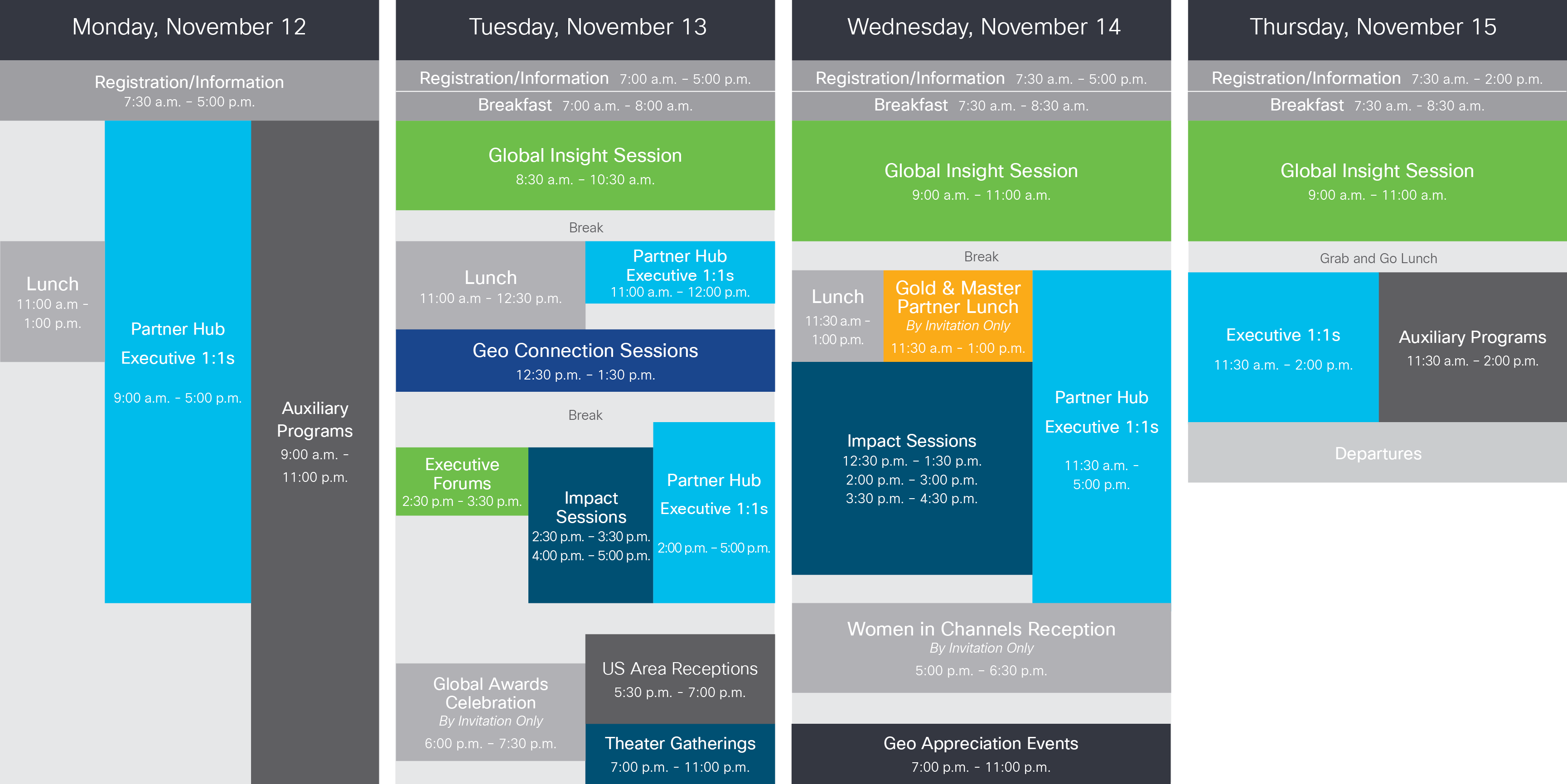 Cisco Fiscal Year Calendar 2019 With Partner Summit 2018 Global Events Systems