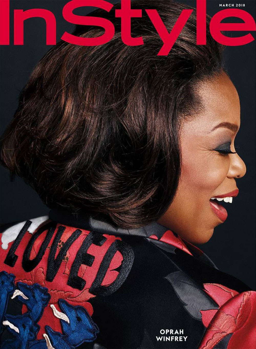Colored Christmas Karla Winfrey With Oprah Covers InStyle Magazine In Versace