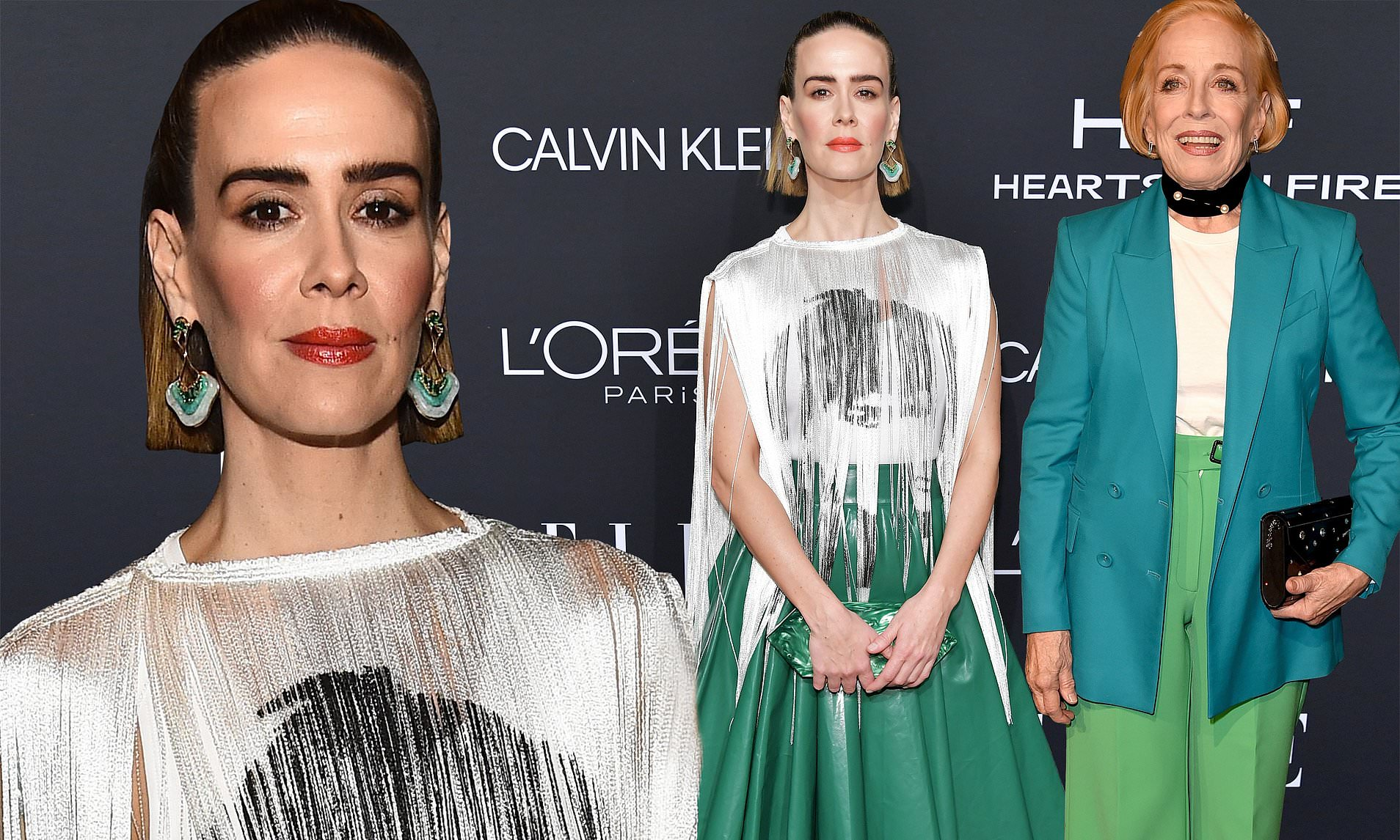 Colored Christmas Karla Winfrey With Sarah Paulson Attends ELLE Bash Holland Taylor After Discussing