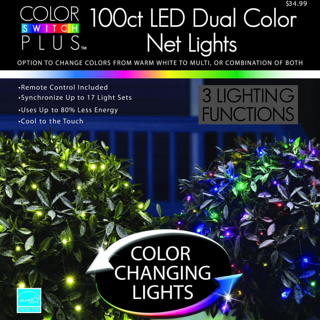 Colored Christmas Net Lights With Color Switch Plus Dual Changing LED