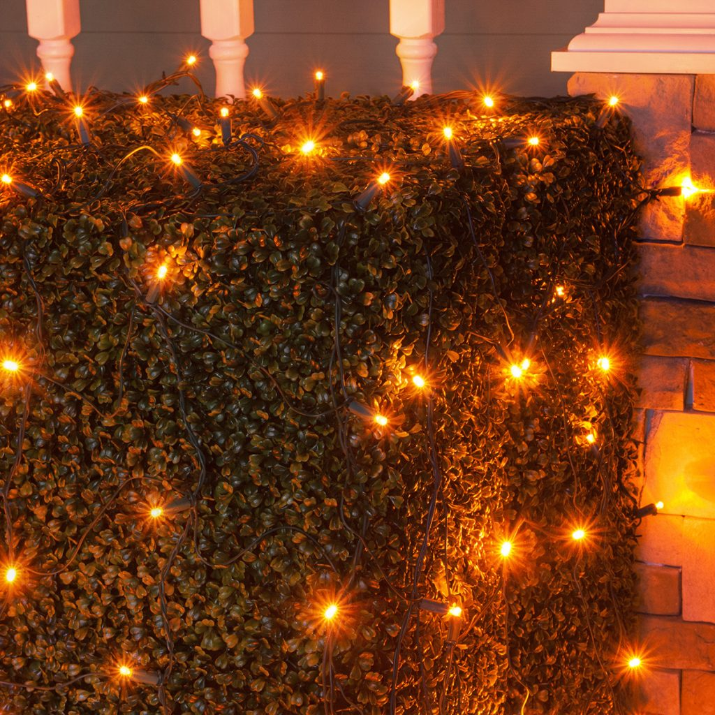 Colored Christmas Net Lights With LED 5mm 4 X 6 100 Amber Lamps