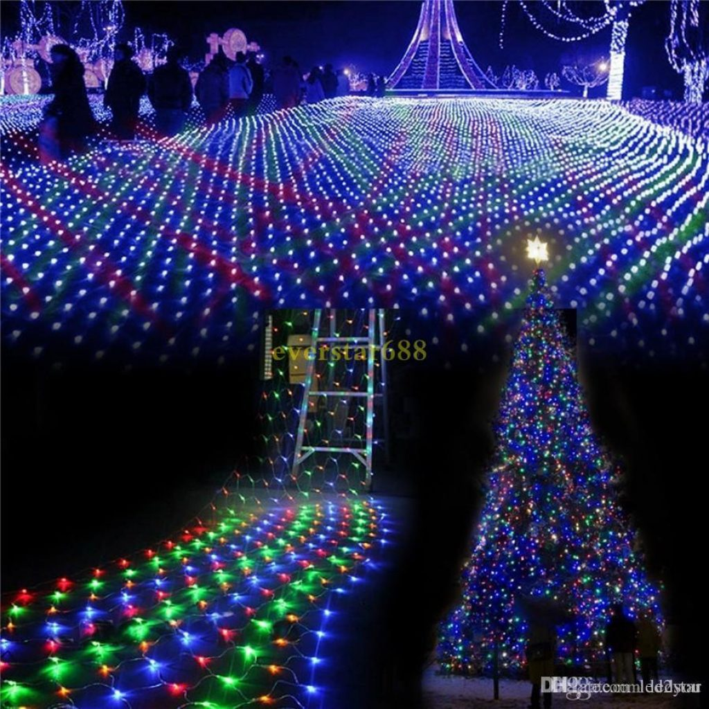 Colored Christmas Net Lights With LED Wedding Party Outdoor Waterproof String