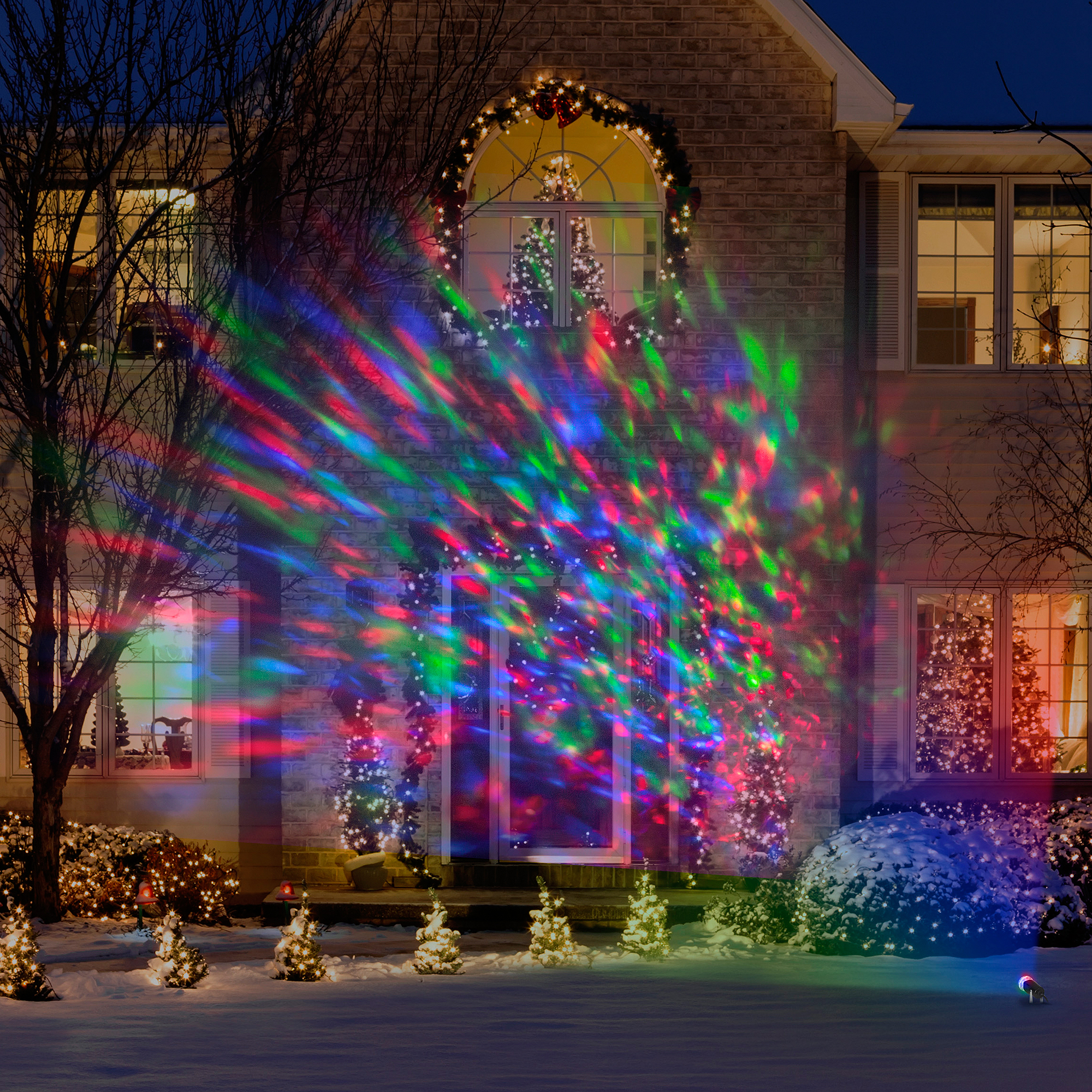 Colored Christmas Net Lights With Lightshow Kaleidoscope Multi Walmart Com