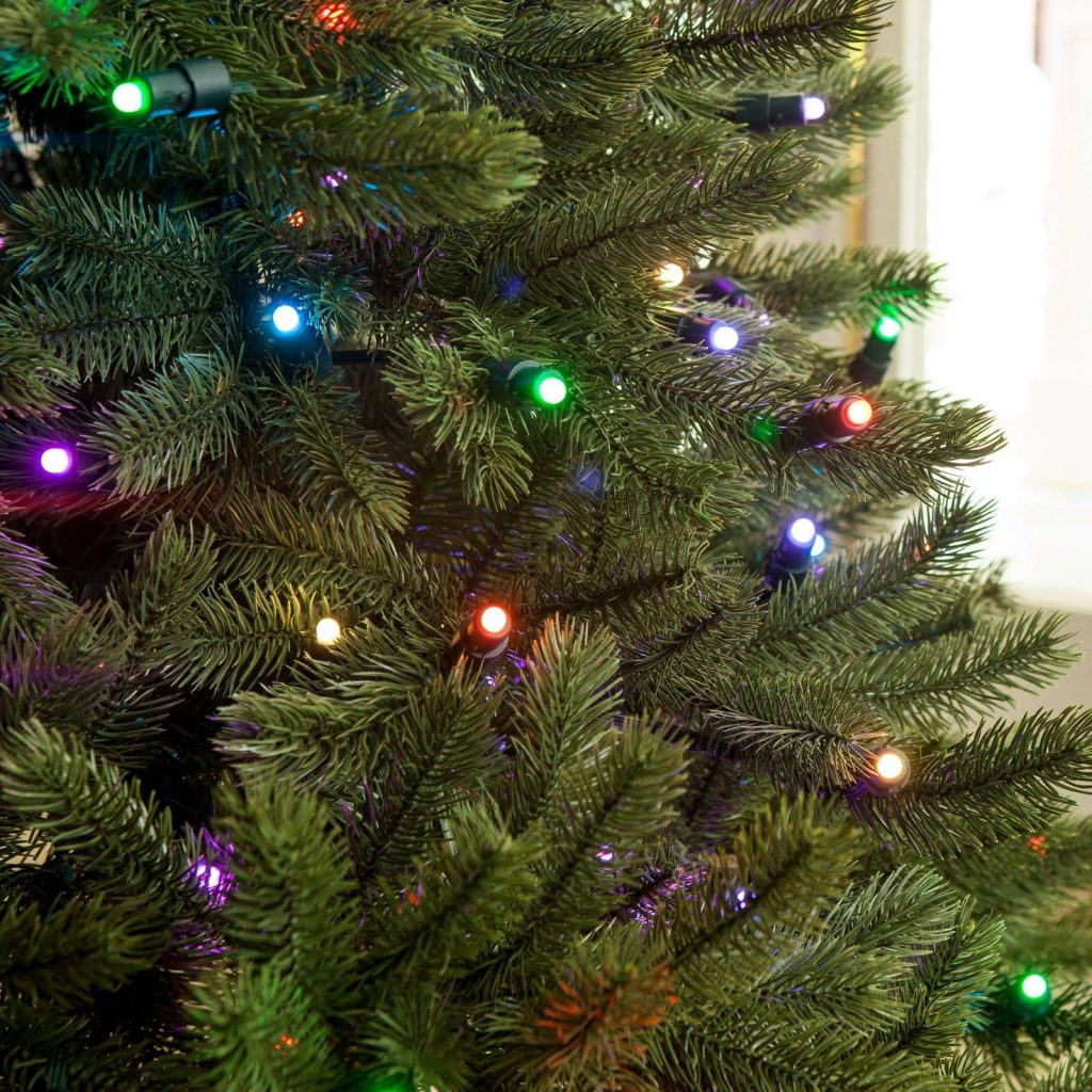 Colored Christmas Net Lights With Lumenplay Color Changing 6 Mm Balsam Hill