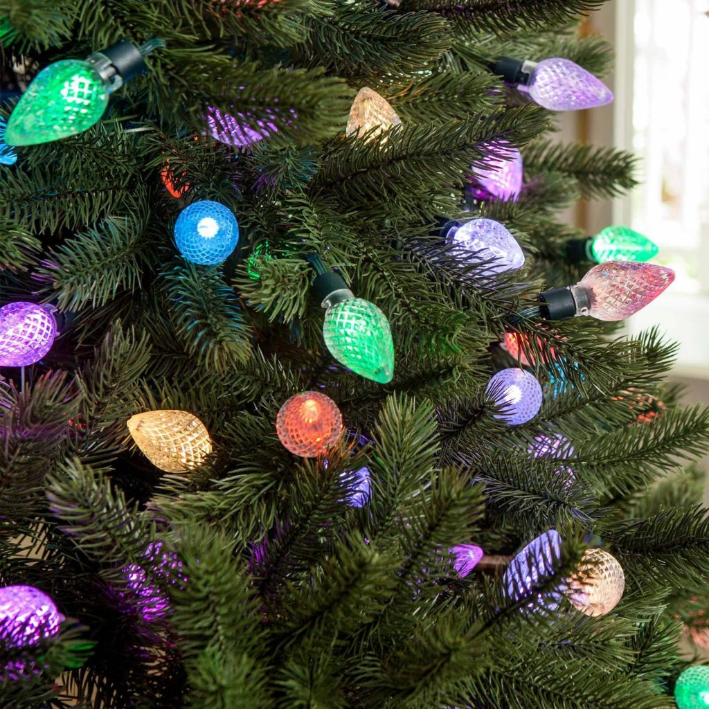 Colored Christmas Net Lights With Lumenplay Color Changing C9 Balsam Hill