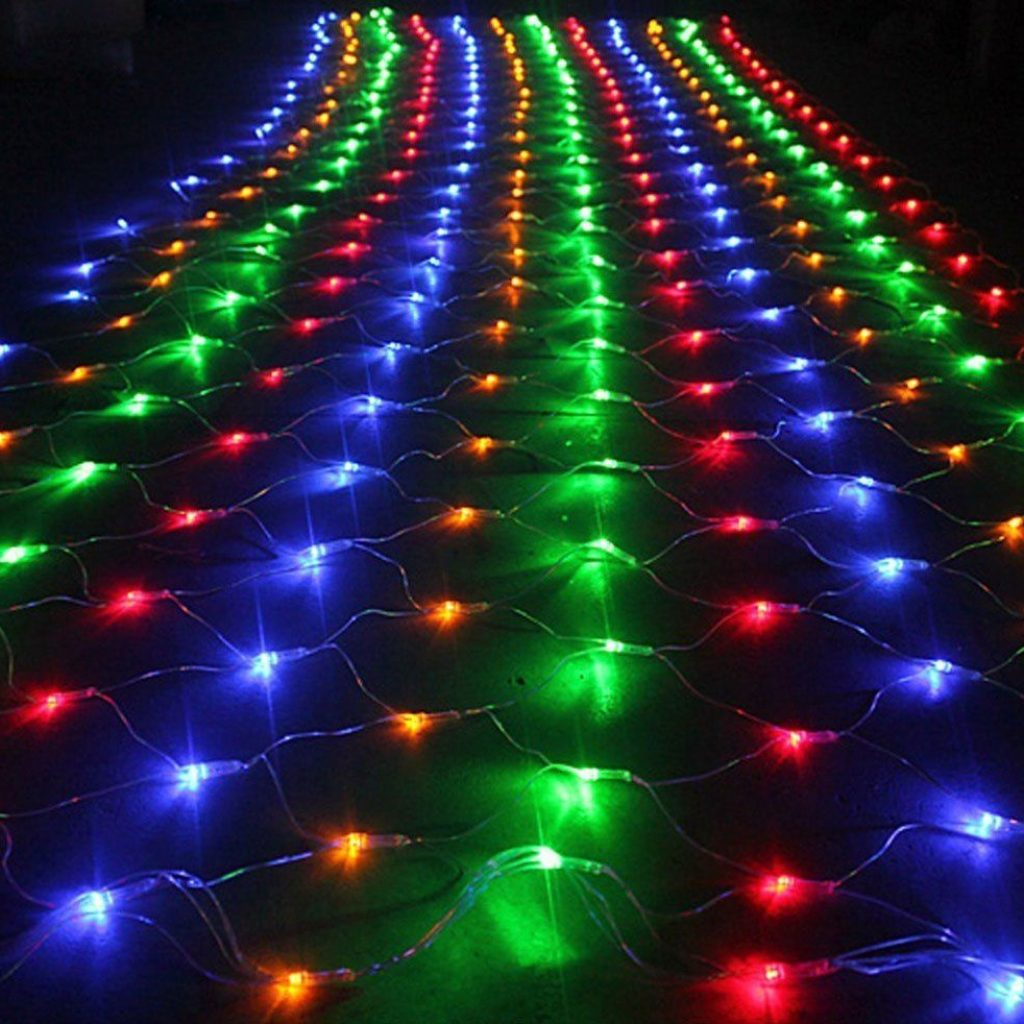 Colored Christmas Net Lights With Outside Multi Color LED