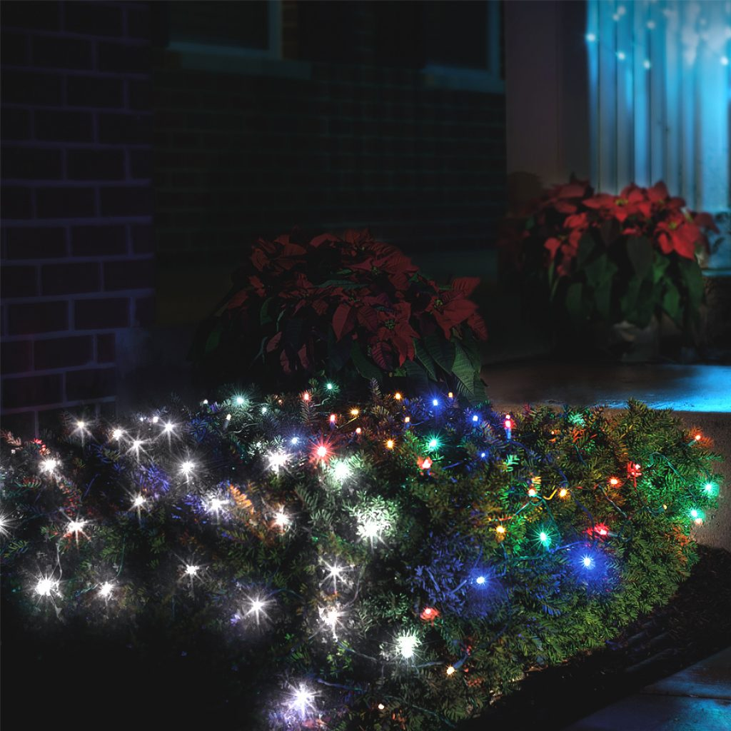 Colored Christmas Net Lights With Shop 4 Ft X 5 Indoor Outdoor Multi Function Color Changing LED