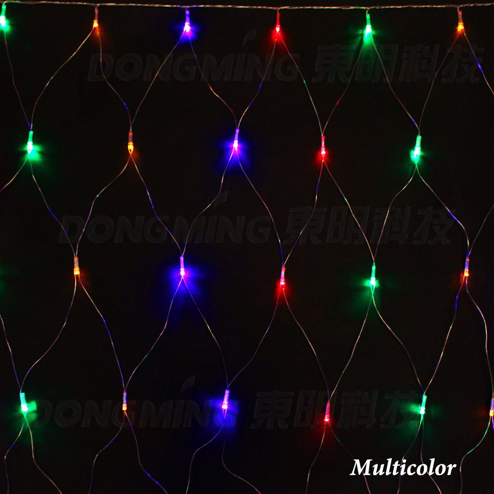 Colored Christmas Net Lights With Wholesale 220V EU Plug 2 2m 210 Led 8 Displays Wedding