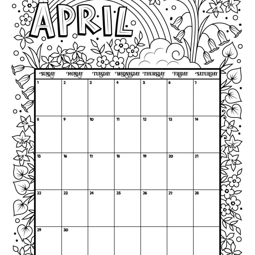 Coloring Calendar For Adults 2019 With Printable And 2018 Holiday Happiness