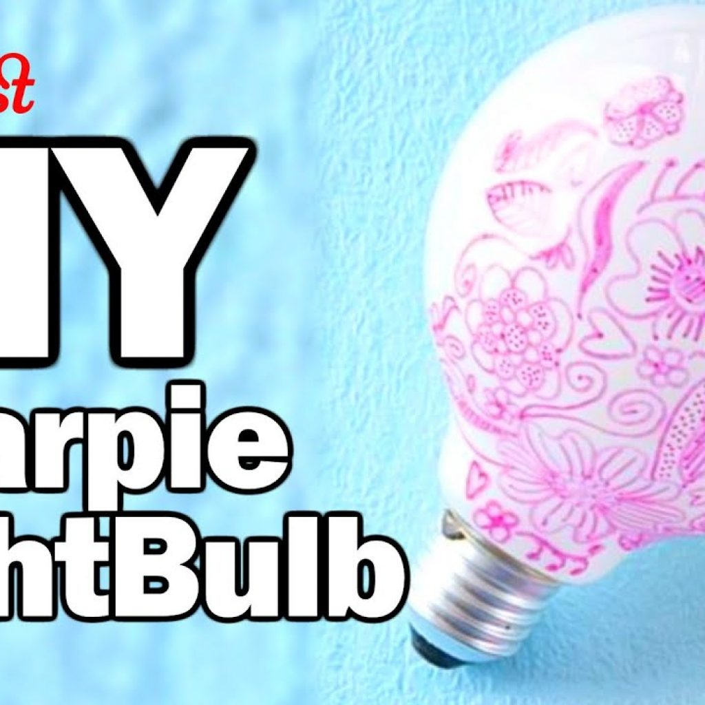 Coloring Christmas Lights With Sharpie DIY Bulb Man Vs Pin 28 W OlgaKay YouTube