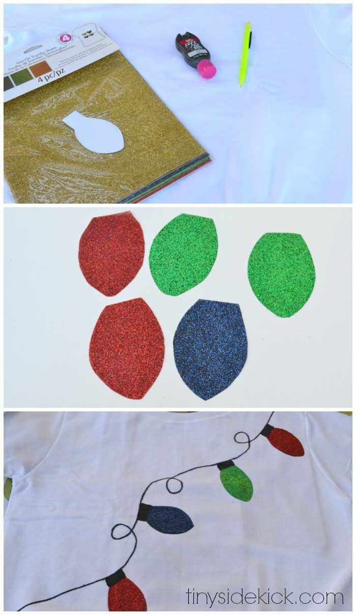 Coloring Christmas Lights With Sharpie Easy DIY Ugly Sweater