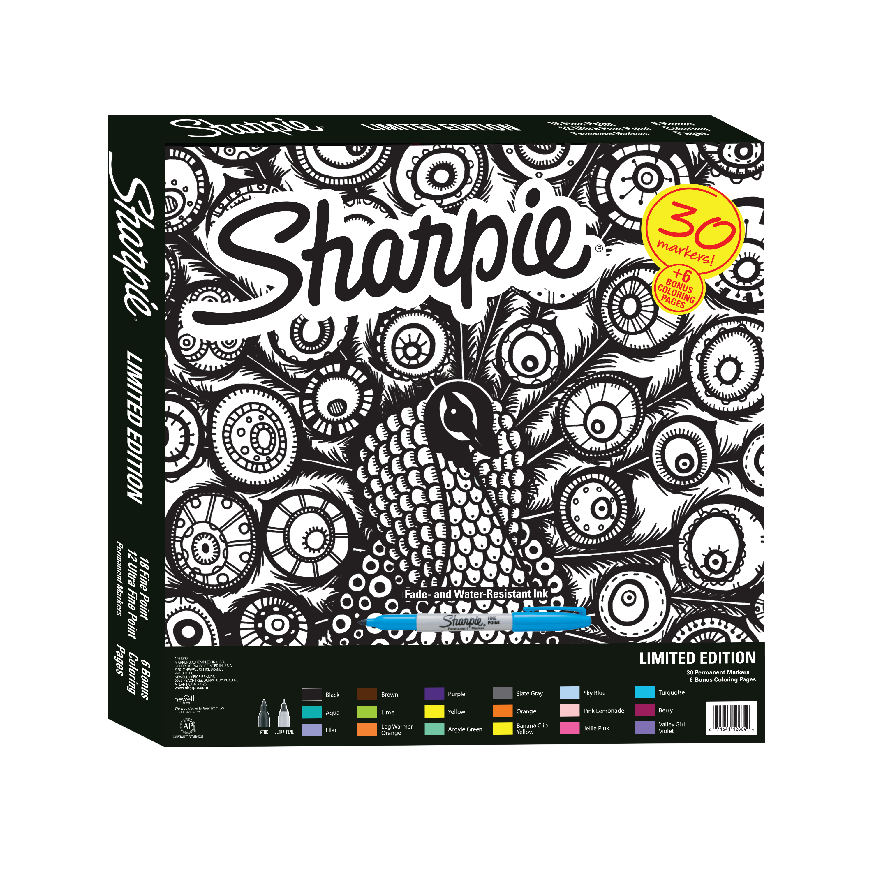 Coloring Christmas Lights With Sharpie Permanent Marker Limited Edition Set Exclusive Color