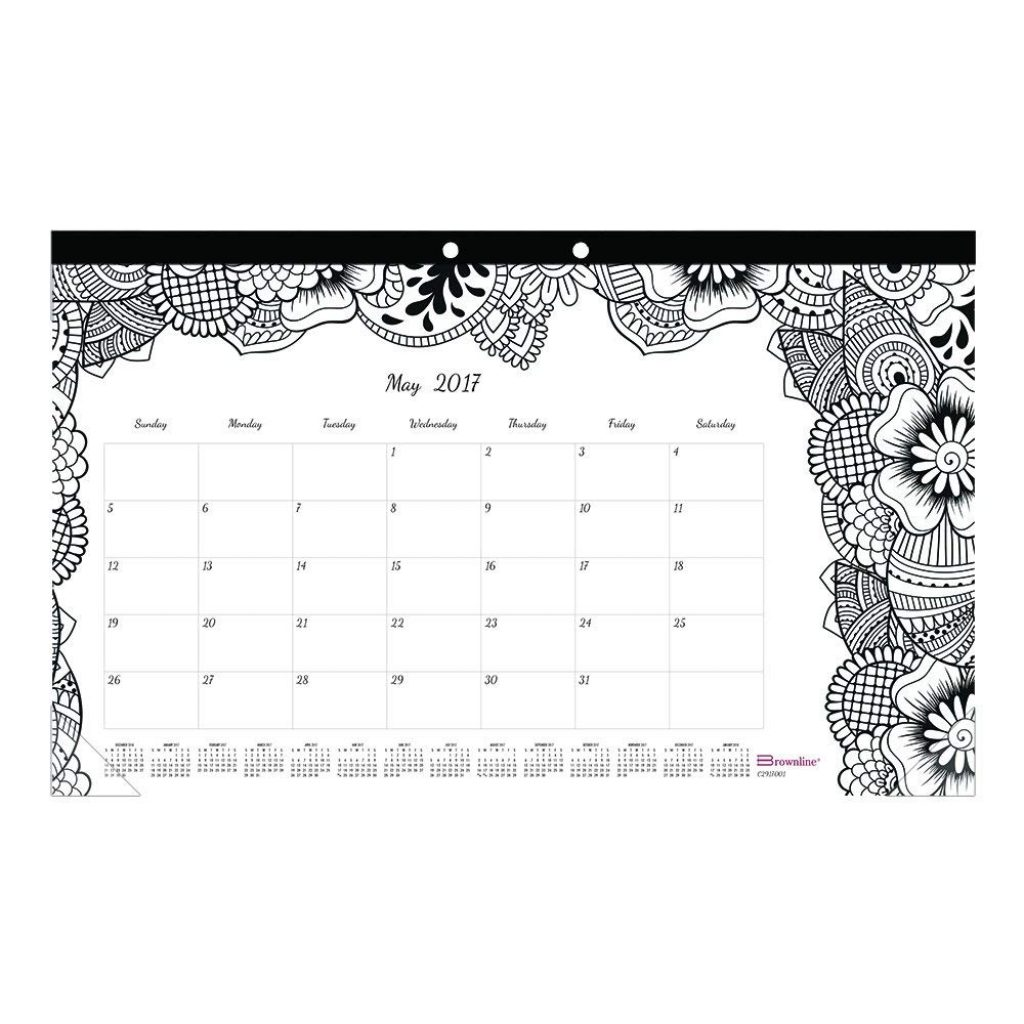 Coloring Desk Calendar 2019 With Amazon Com Blueline 2017 Monthly Pad