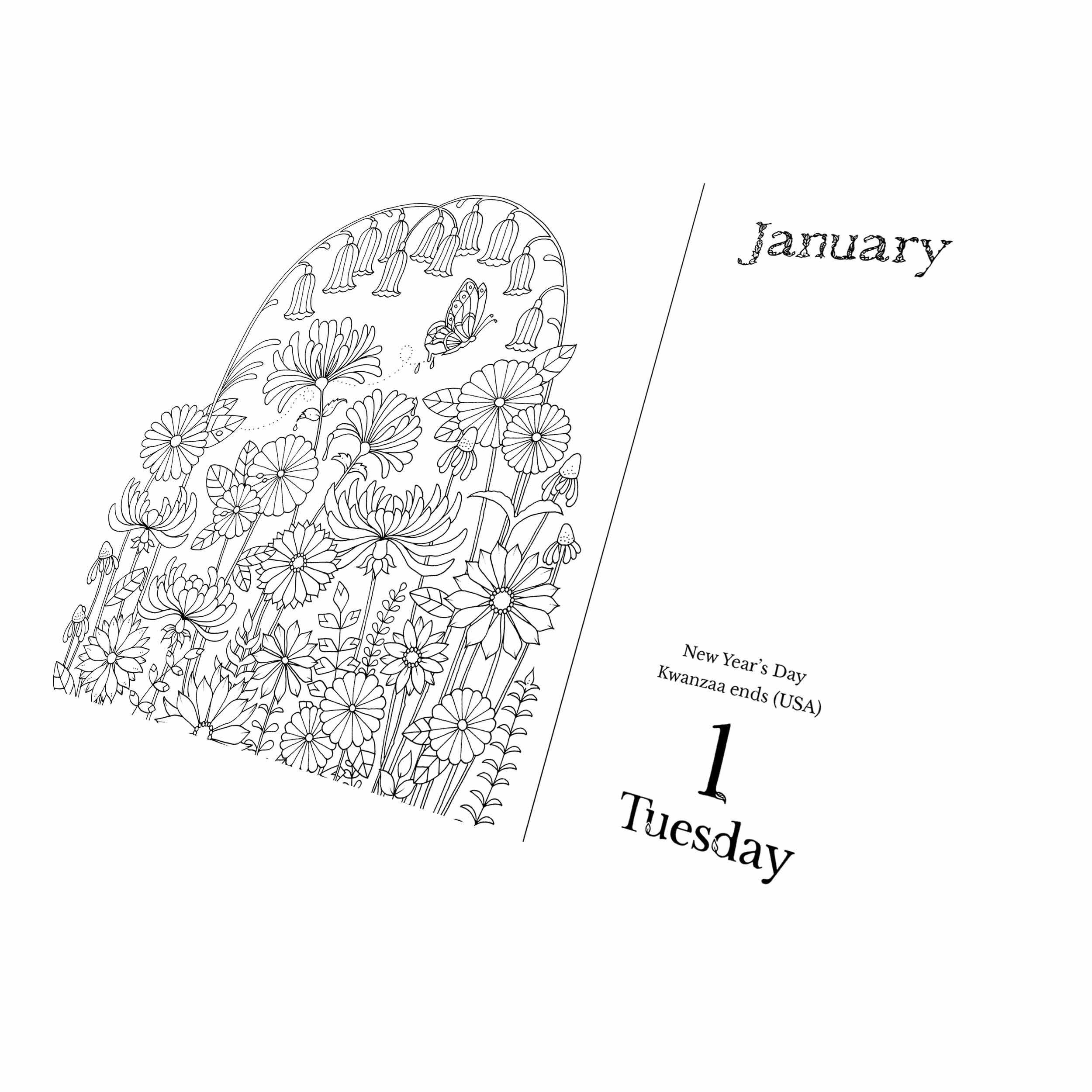 Coloring Desk Calendar 2019 With Johanna Basford Colouring Club UK