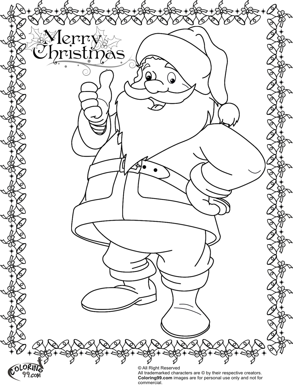Coloring Of Santa Claus With Pages Team Colors