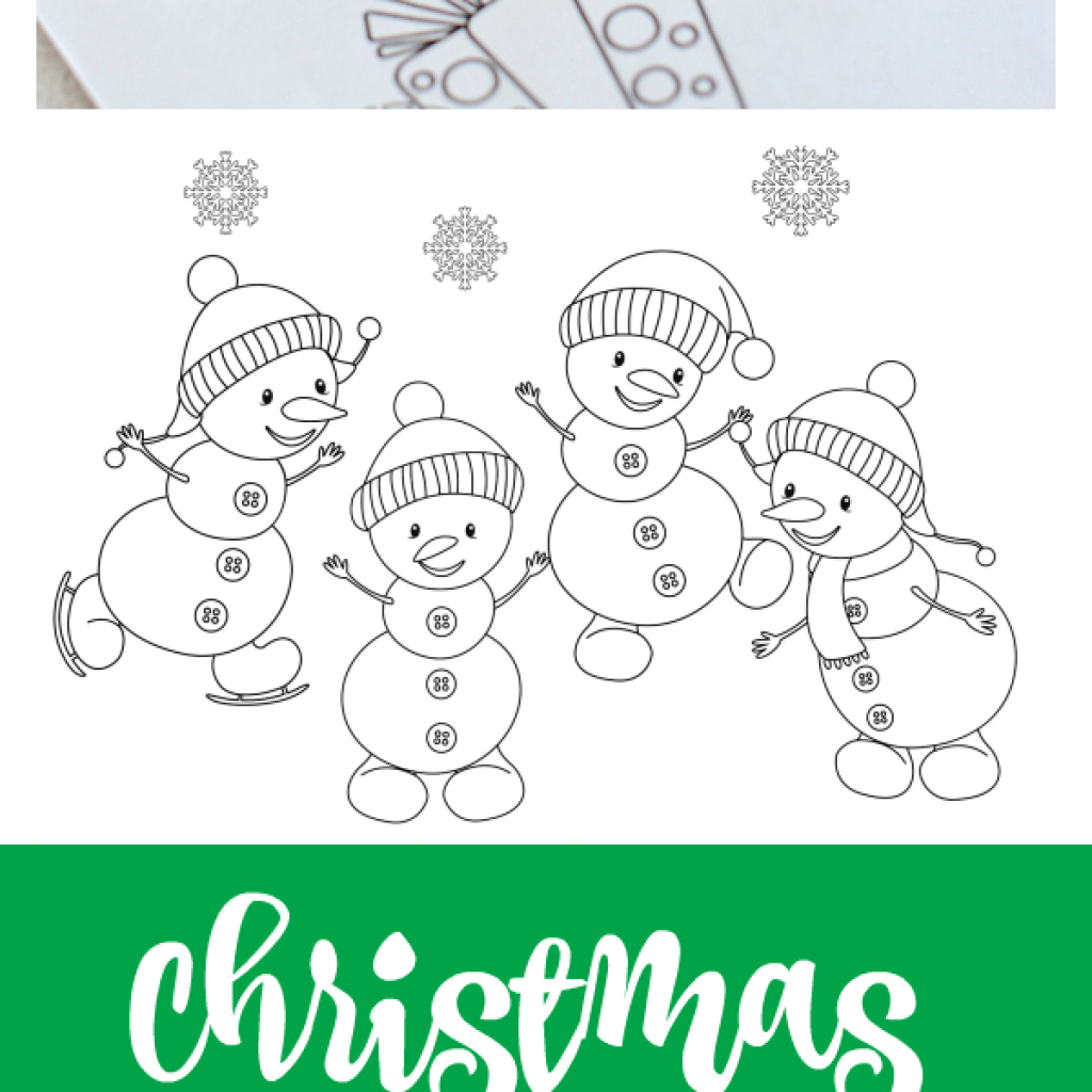 Coloring Pages About Christmas With Free Printable Crazy Little Projects