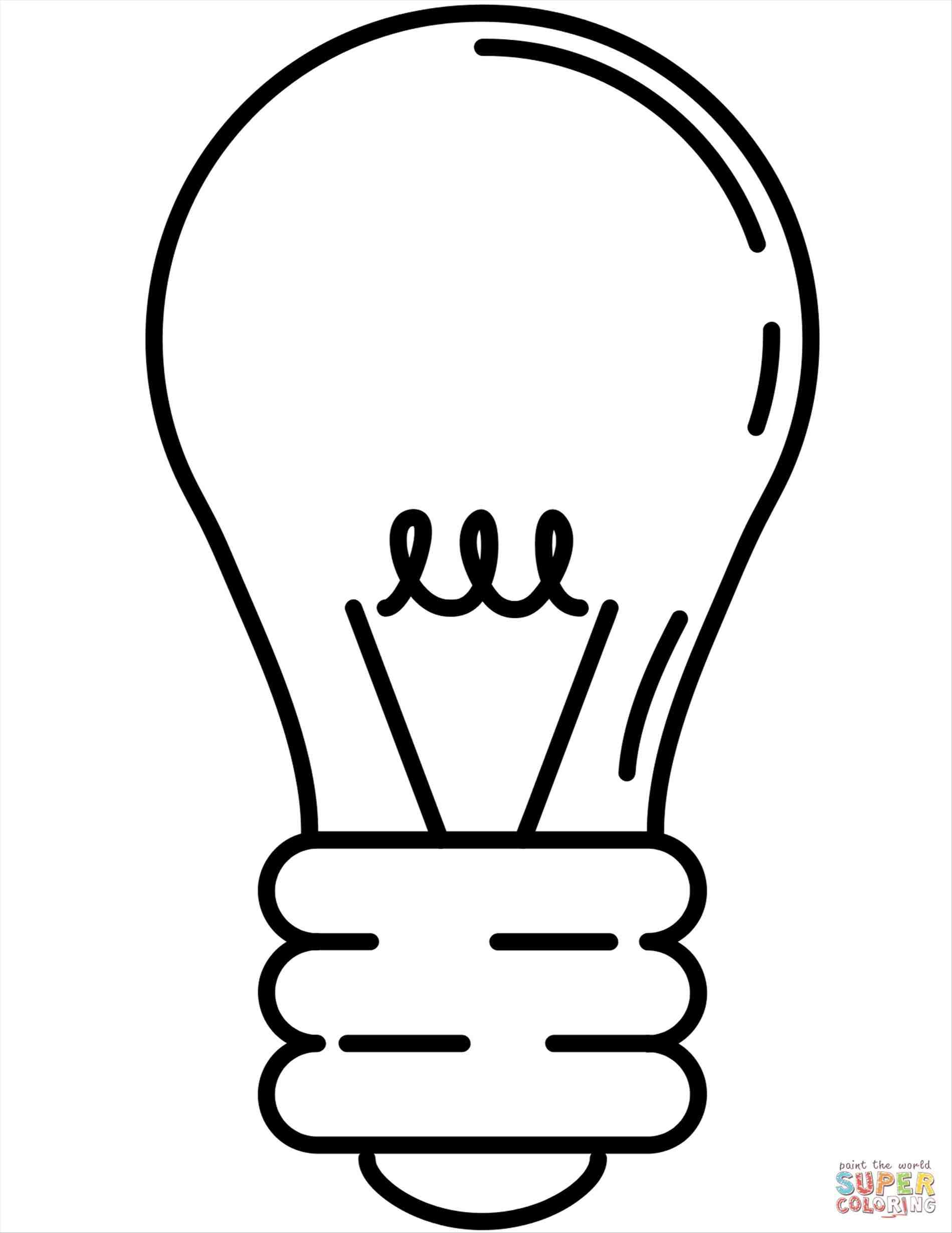 Coloring Pages Christmas Light Bulbs With Bulb Page Free Download Best